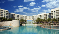 luxury family hotel with villas on the beach in cancun